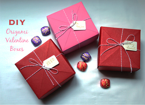 Valentine's Origami Gift Boxes
