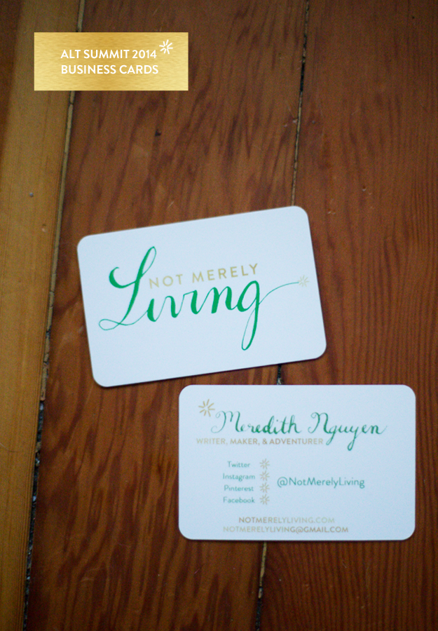 Alt Summit 2014 / Business Cards