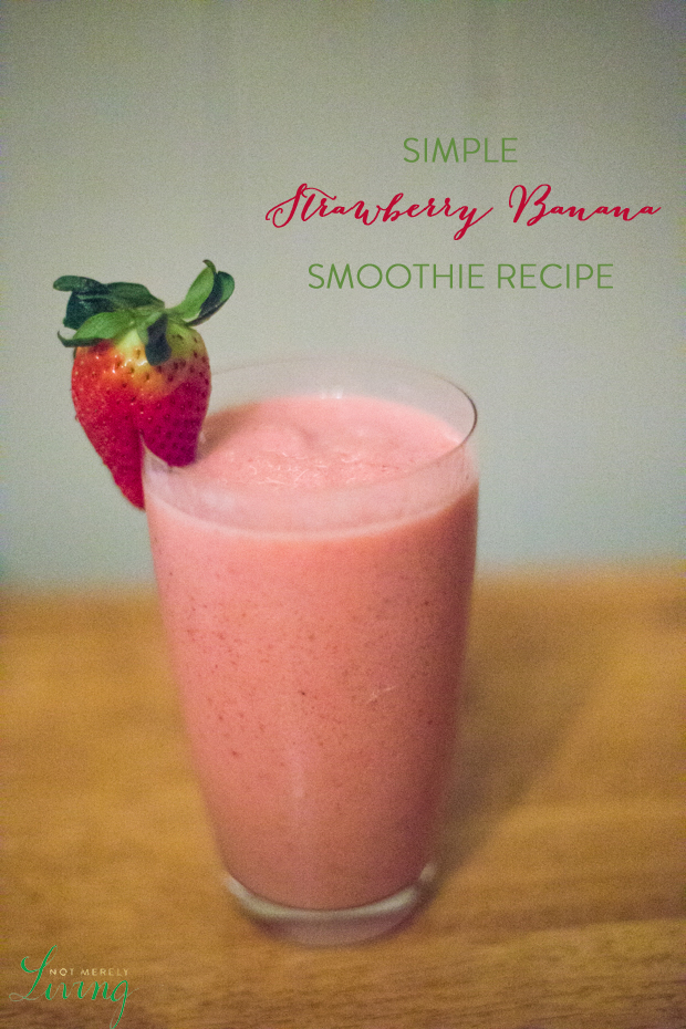 Simple Strawberry Banana smoothie recipe