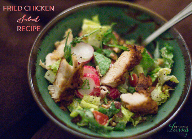 Easy Fried Chicken Salad recipe