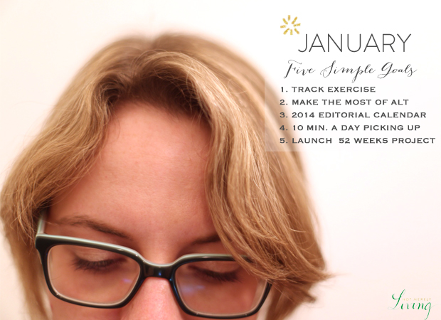 JANUARY FIVE SIMPLE GOALS