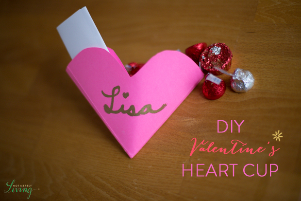 DIY Valentine's Heart Cup