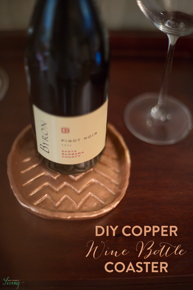 DIY Copper Wine Bottle Bar Coaster