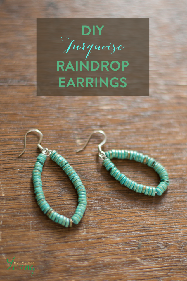 DIY Turquoise Teardrop Earrings